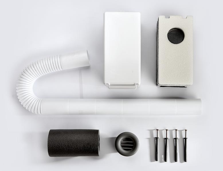 Комплектация приточного вентиляционного клапана Домвент