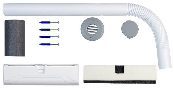 Комплектация приточного вентиляционного клапана «Домвент-Оптима»