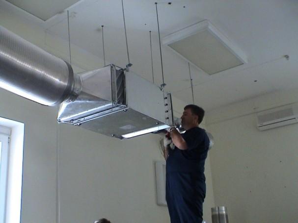 Монтирование промышленной вентиляции